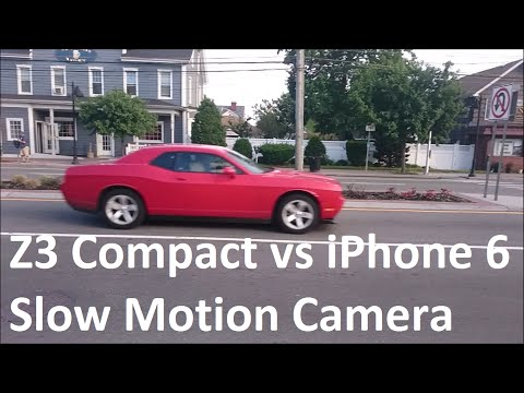 Sony Xperia Z3 Compact vs iPhone 6 Camera Test Slow Motion Video 120 FPS