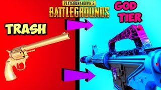EVERY NEW GUN SKIN IN PUBG RANKED FROM WORST TO BEST! - PlayerUnknownsBattleGrounds