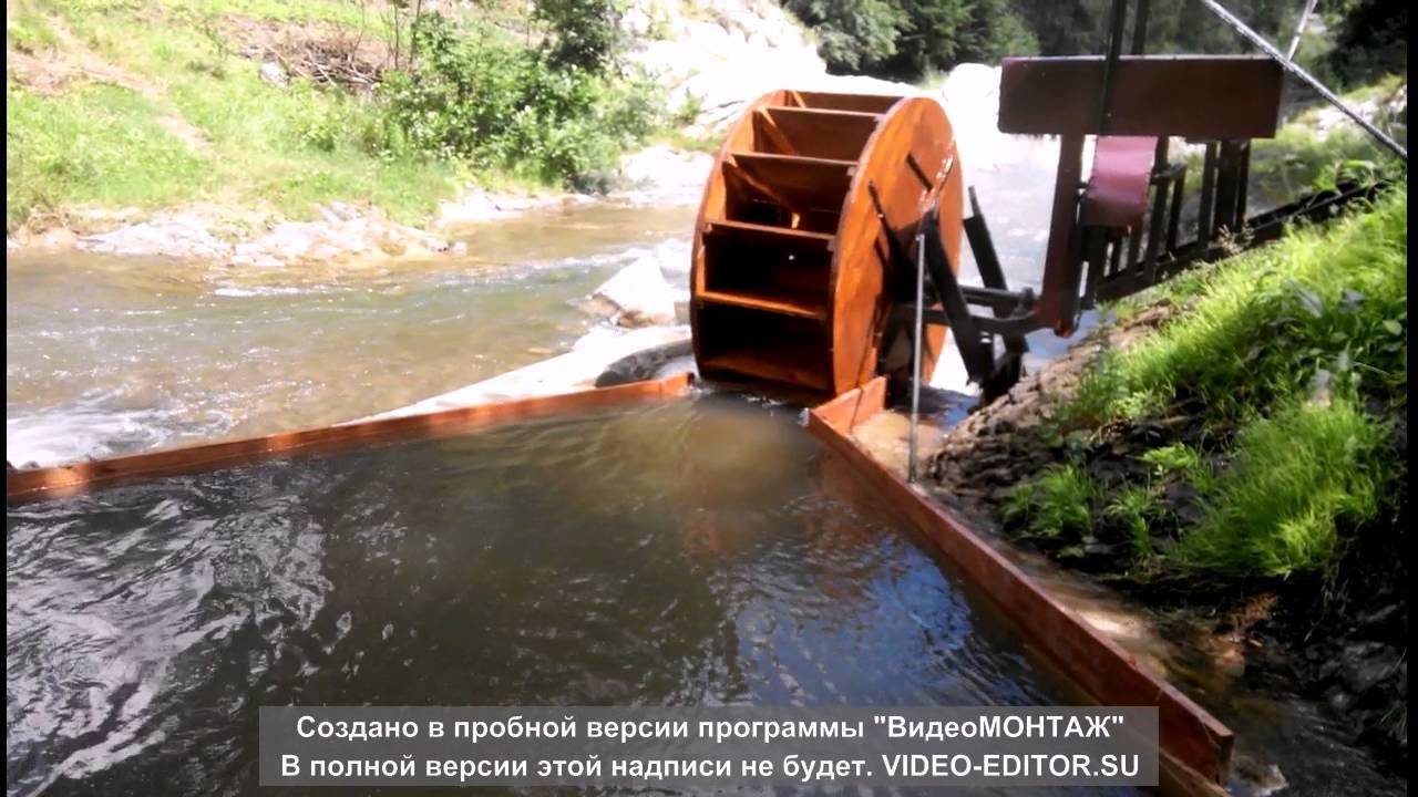 Гидроэлектростанция на ручье своими руками 193