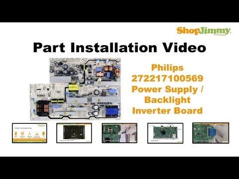 Philips 272217100569 Power Supply / Backlight Inverter Boards Replacement Guide for LCD TV Repair