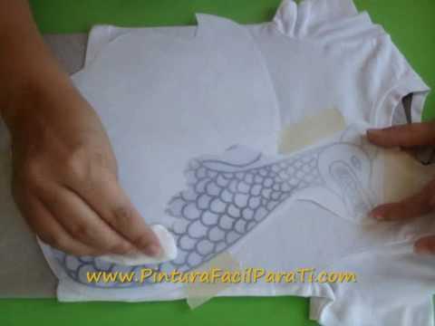 Como Transferir Dibujos a Tela *Transfer Image to Fabric* Pintura en Tela Pintura Facil Para Ti