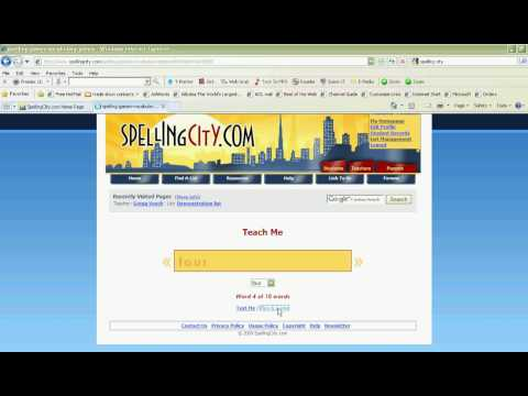 Spelling City Website - An Introduction to making spelling more fun!