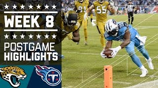 Jaguars vs. Titans | NFL Week 8 Game Highlights