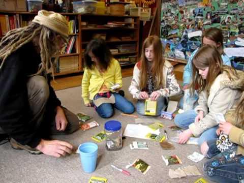Spiral Living Center Biochar Class, April 7, 2010, at the Dome School, Takilma, Oregon
