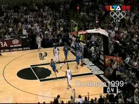 San Antonio Spurs Highlights vs. Orlando Magic 4/2/2010 Manu Ginobili 43points 6rbs 5asts
