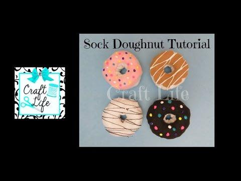 Craft Life ~ Sock Doughnut Tutorial ~ DIY Sock Donut Keychain