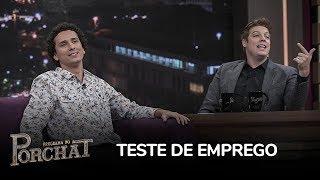 Paulo Vieira e Rafael Portugal relembram perrengue em teste de emprego