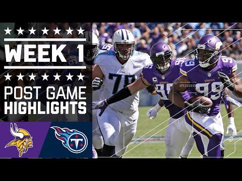 Vikings Vs Ans Nfl Week 1 Game Highlights