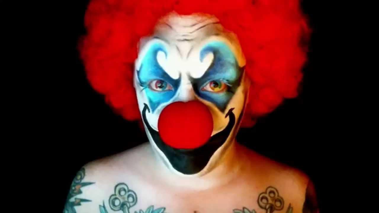 Evil Clown - Halloween 2014 - Makeup Tutorial - YouTube