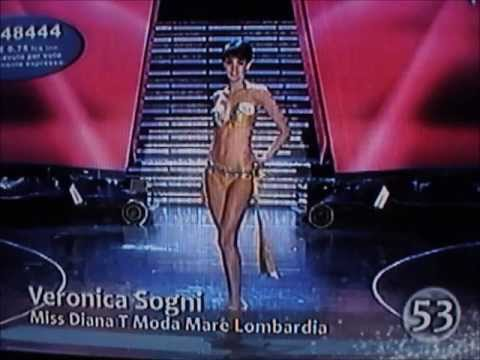 Veronica Sogni,Miss Diana T Moda Mare Lombardia,Top 20 at Miss Italia 2009.Bikini Catwalks