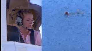 Sabrina arrives in Australia and spots a merman