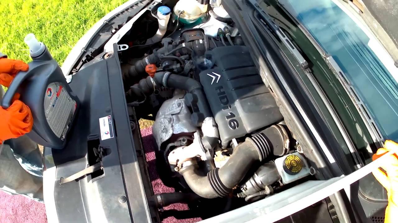 Замена масла в двигателе на ситроен с4 своими руками 83