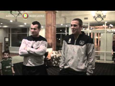 AVFC Irish Lions Club Meet Richard Dunne & Shay Given