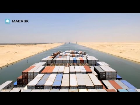 Maersk Line - Timelapse of sailing down the Suez Canal