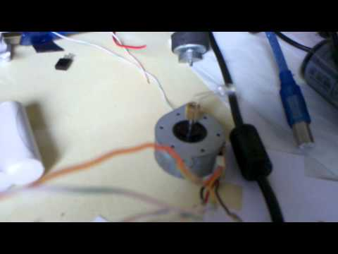 First stepper motor