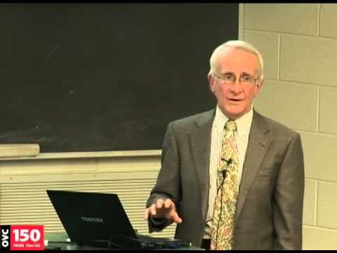 Dr. I.G. Joe Mayhew  2012 Schofield Memorial Lecture