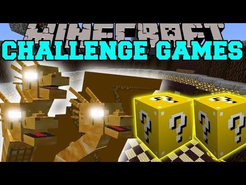 Minecraft: King Ghidorah Challenge Games - Lucky Block Mod - Modded Mini-game video