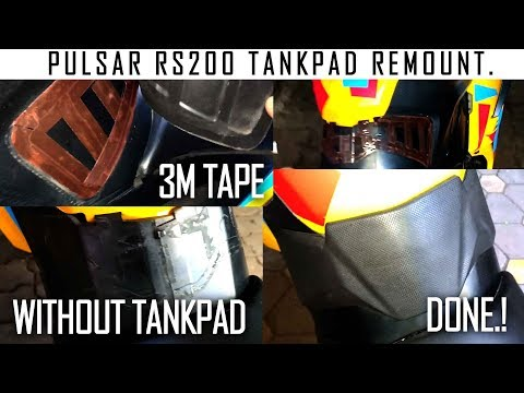 HOW TO REMOUNT TANKPAD ON PULSAR RS200 . STEP BY STEP DIY. -SHOT ON OPPO F7.