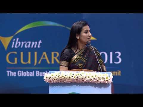 Chanda Kochhar's speech during inaugural ceremony of Vibrant Gujarat Global Summit 2013