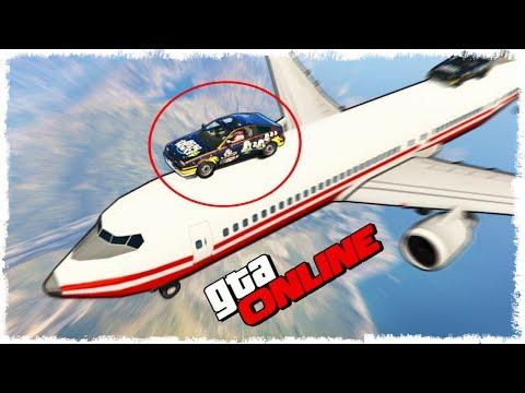 САМОЛЕТ vs МАШИНА?! СКИЛЛ ТЕСТ НА ВЫСОТЕ 10 КМ В GTA ONLINE!!!