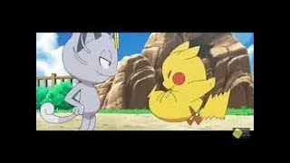 Pokemon Ash Pikachu VS Alolan Meowth