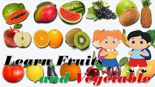 Kids Learning Fruits Vegetables | Name and Color  Preschool Learning