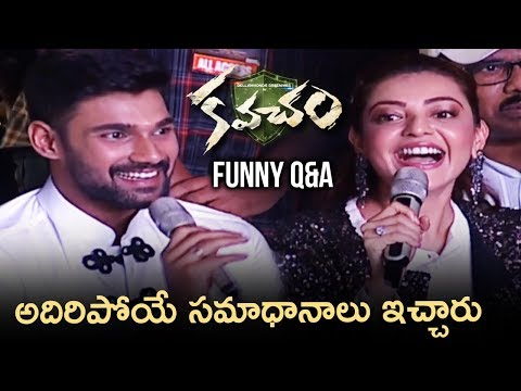 Kajal Aggarwal and Bellamkonda Sreenivas FUNNY Q&A | Kavacham Movie Audio Launch | Thaman S