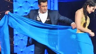 Salman Khan Helped Sunny Leone To Wear Saree Also Removed