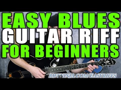 Easy Blues Guitar Riff For Beginners