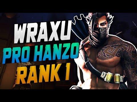 WRAXU AIMBOT HANZO! HE'S BEST! [ OVERWATCH SEASON 9 TOP 500 ]