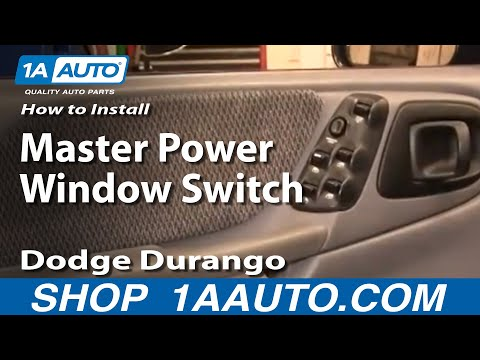 How To Install Replace Master Power Window Switch Dodge Durango Dakota 98-00 1AAuto.com