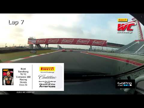 PWC COTA 2013 - Brett Sandberg On Board Highlights of Round 1 TC