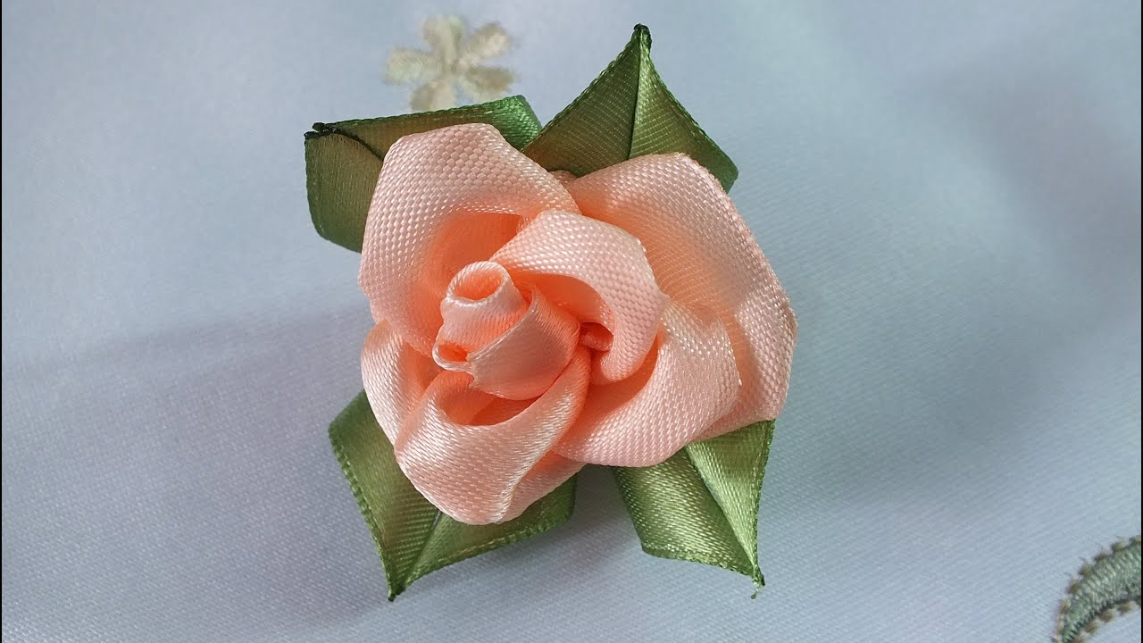 Мастер класс розы из атласных лент своими руками пошаговая
