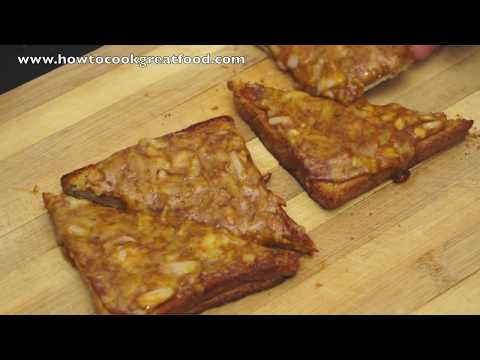 Cheese on toast with Marmite English mustard & onion how to cook great food recipe cheddar