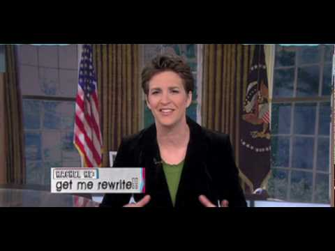 Rachel Maddow as Fake President Obama Addresses the Nation on BP Oil Spill