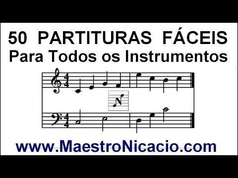 50 Partituras Fáceis - Todos os Instrumentos