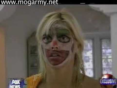 Anna Nicole Wacked Out Of Her Mind In Clown Makeup! video