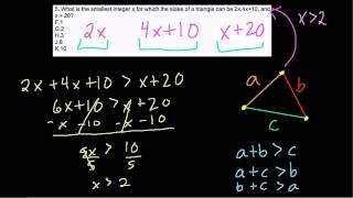 SHSAT Ninth Grade - Triangle Inequalities