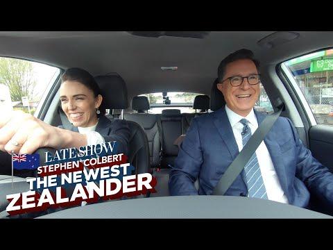 Stephen Colbert: The Newest Zealander Visits PM Jacinda Ardern