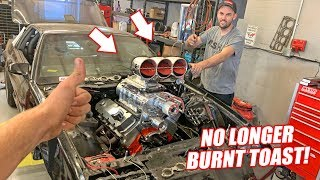 TOAST IS BACK! Putting Our Repaired 10.3L Supercharged Big Block Back In!