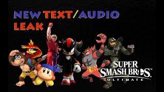 New Text / Audio Leak! - Super Smash Bros. Ultimate