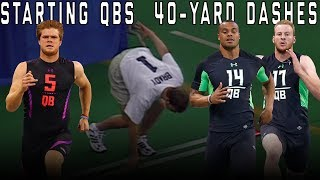 Slowest & Fastest: Top 10 Starting QB's 40-Yard Dash Times!