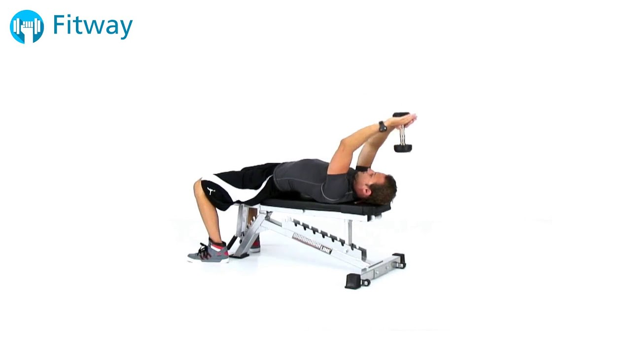 Dumbbell overhead triceps extension