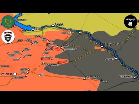 30 августа 2017. Военная обстановка в Сирии. Наступление САА, контратака ИГИЛ, авиаудар США по своим