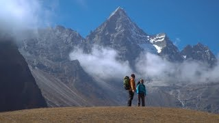 Hikers Travel in the Himalayan Mountains | Stock Footage - Videohive