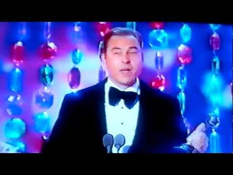 David Walliams wins the Landmark Award at the National TV Awards 2012