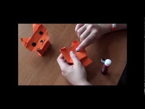 http://nashydetky.com Оригами собака и кошка (видеоурок)