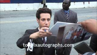 Paulo Costanzo & Jill Flint - Signing Autographs at USA Network Upfronts in NYC