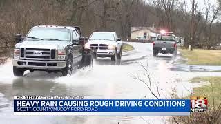 Heavy Rain Causing Rough Driving Conditions