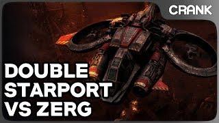 Double Starport vs Zerg - Crank's Variety StarCraft 2